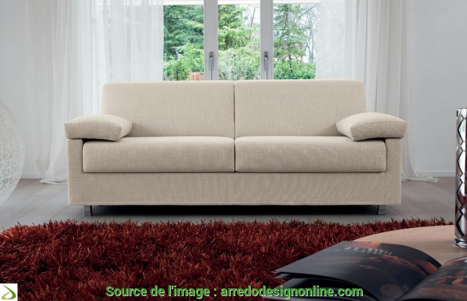 Eccezionale 3-Seater Sofa, With Folding, Armrests