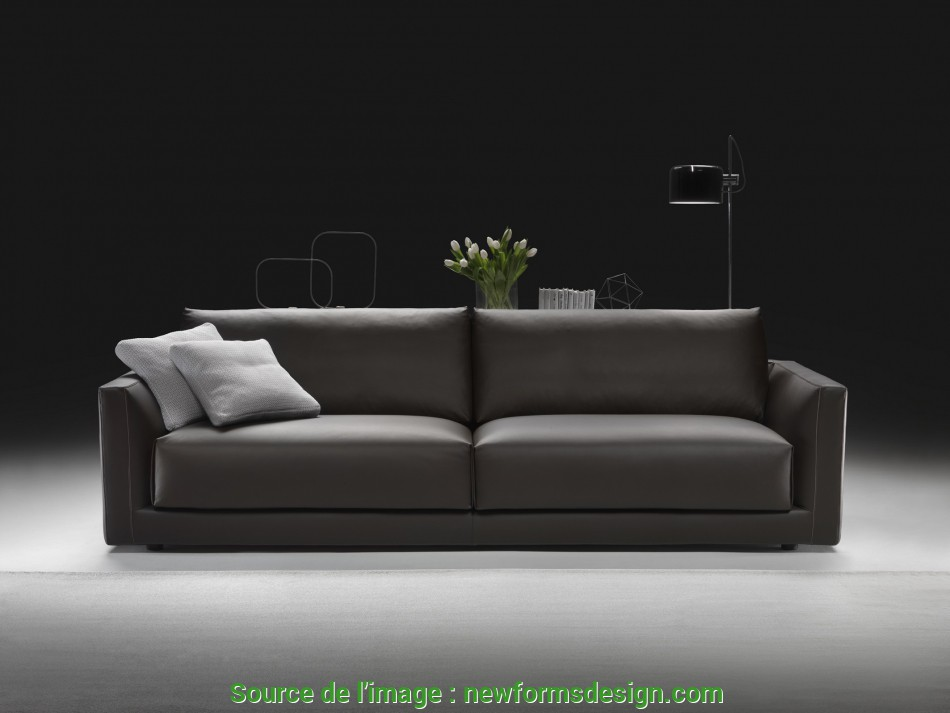 Unico Divano Pelle SoMa Made In Italy, Divano Moderno, Newformsdesign, Outlet Divani, Newformsdesign