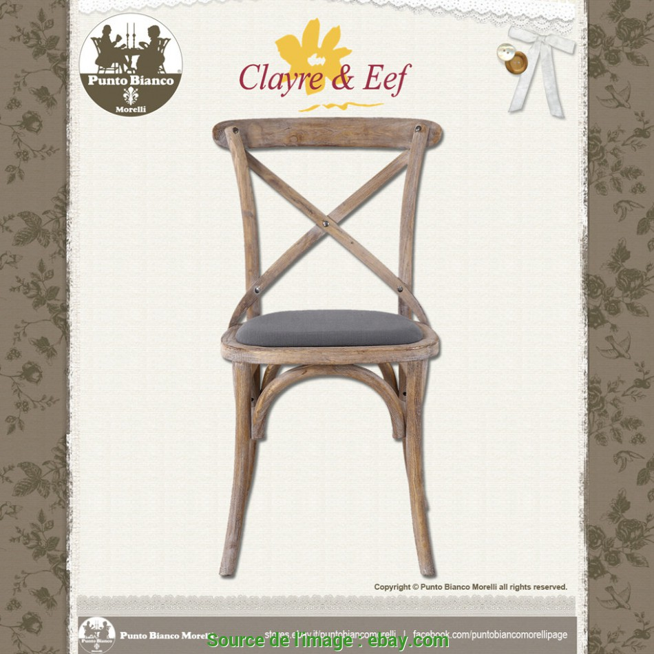 Perfezionare Details About CLAYRE & EEF, 5H0341, Sedia, Chair, Shabby Chic