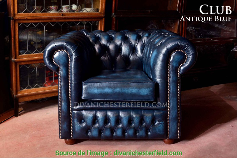 Sbalorditivo ... Poltrona Chesterfield Club Pelle, Inglese