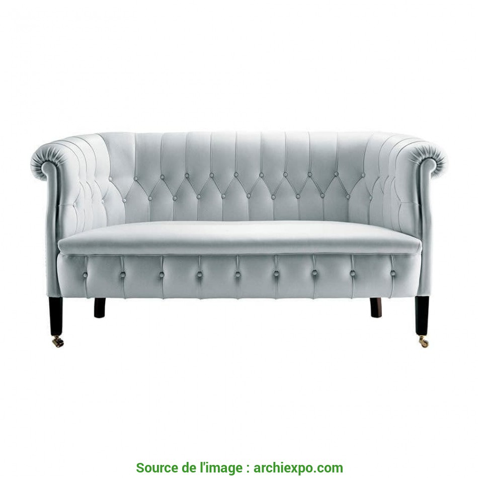 I Più Nuovi Chesterfield Sofa / Fabric / Leather / 2-Person, FUMOIR By Renzo Frau