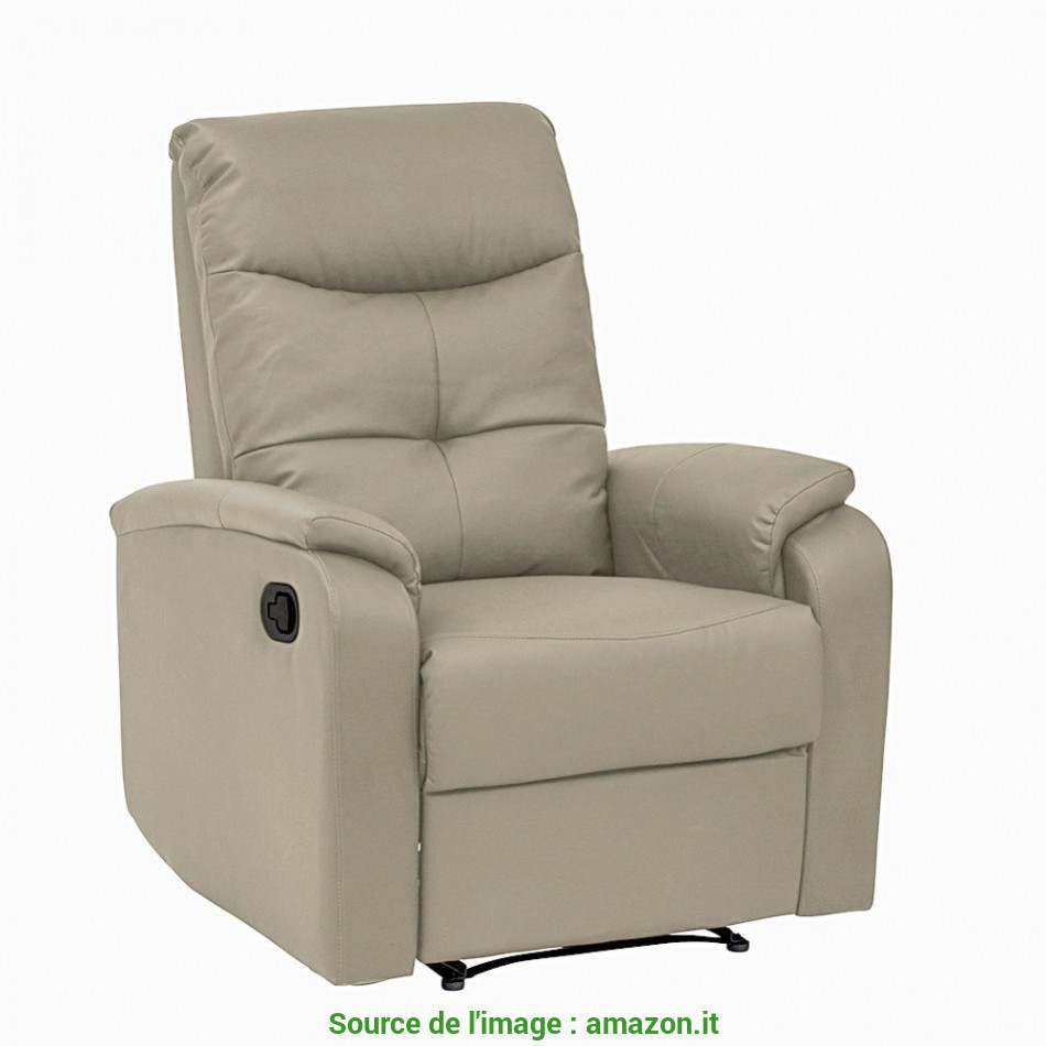 Ideale Tuoni Etos A Poltrona Relax, Similpelle, Corda, 89.5X106X164 Cm Product Image