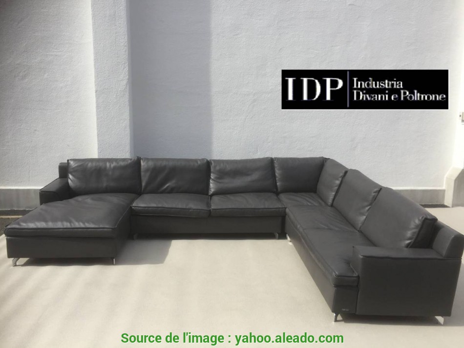 Superiore Italy Made, Company Manufactured Total Leather Sofa Down Cushion, Character Type 4 Point
