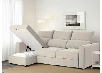 Superiore ESKILSTUNA 3-Seat Sofa With Chaise Longue/Nordvalla Beige