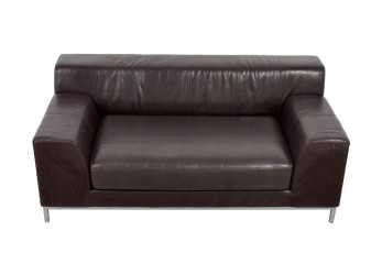 Speciale 90%,, IKEA IKEA Kramfors Brown Leather Love Seat / Sofas