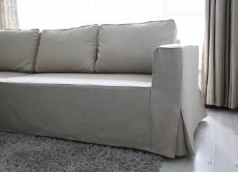 Minimalista Loose, Linen Manstad Sofa Slipcovers, Available