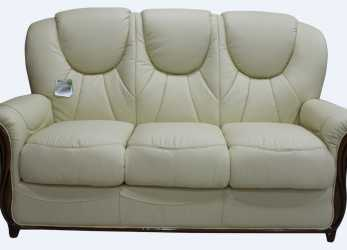 Bello Lucca Genuine Italian Leather 3 Seater Sofa Settee Cream