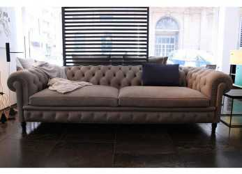 Ideale Poltrona Frau Chester, Sofa Leather Smokey Soul