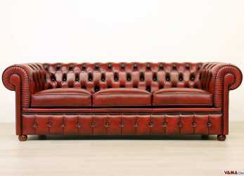 Ideale Chesterfield Divano, Divano Chesterfield In Pelle