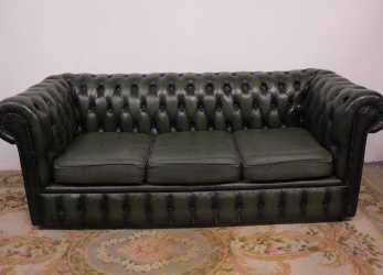 Ideale Divano Chesterfield Club Originale 3 Posti Verde (465)
