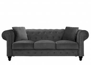 Lussuoso Divano Roma Chesterfield Sofa : Divano Roma Furniture Classic Velvet Scroll, Tufted Button