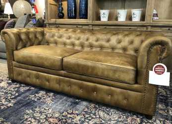 Speciale Divano Chesterfield In Vera Pelle