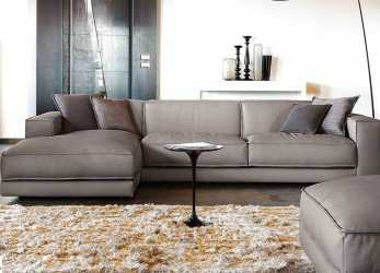 Fantastico Design Sofa With Leather Penisola