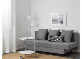 Unico IKEA ASARUM Three-Seat Sofa-Bed Readily Converts Into A Bed