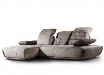 Elegante Divano, Chaise Longue, Schienale Reclinabile, IDFdesign