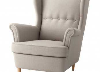 Esperto STRANDMON, Wing Chair, Skiftebo Light Beige