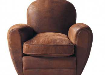 Stupefacente Fauteuil Club En Microsuède,, Arizona. Microfibre Club Armchair In Brown Arizona, Maisons Du Monde