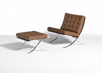 Bello ... Mies Barcelona Collection Mies, Der Rohe Barcelona Chair Barcelona Stool; Knoll