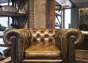Esperto Areadocks Research Chester Chesterfield Armchair Vintage Brown Poltrona Marrone Pelle Brescia Sconto Description, Century Leather Furniture Country