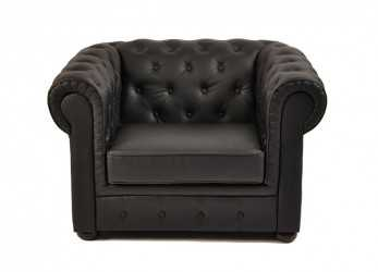Ideale DIVANO E POLTRONA CHESTERFIELD NERO,, Rent, Smacrent