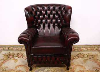 Dettaglio Poltrona Sedia Chesterfield Chester Originale Inglese Bergere Monk English Old