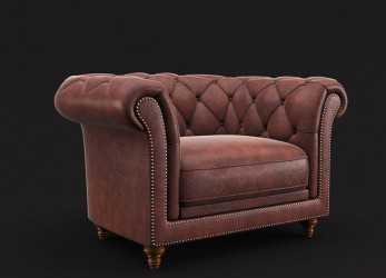 Sbalorditivo Chesterfield Armchair 3D Model,, .Oth .Max .Obj .Fbx, Free3D