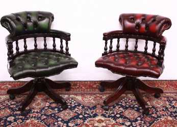 Elegante Chair Chair Captain Chester / Chesterfield In Original English