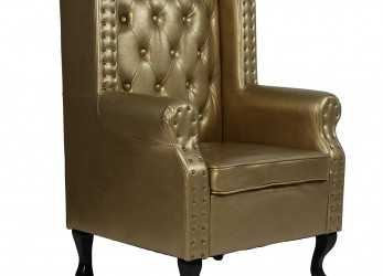 Fresco Miadomodo® Armchair With Ottoman In Chesterfield Design (Gold): Amazon.Co.Uk: Kitchen & Home