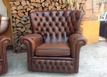 Bello Poltrona Chesterfield Prezzi : Poltrona Chesterfield Monk Originale Inglese Vintage In Vera Pelle