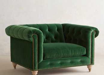 Bello Lyre Chesterfield Chair, Abode Love, Cadeiras Verdes, Poltrona