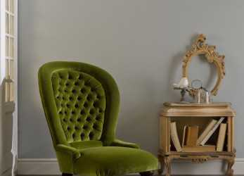 Bello Traditional Armchair / Velvet / High-Back / Green, POLTRONA CLASSICA
