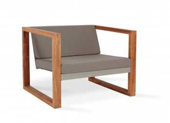 Minimalista Poltrona Lounge Teak, CIMA LOUNGE Collection, FueraDentro