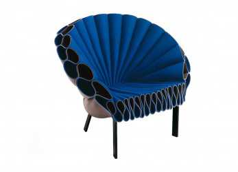 Stupefacente Poltrona Design Originale / In Feltro / Grigia /,, PEACOCK By