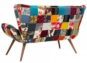 Antico Sofá Flor Patchwork 2 Lugares, Tommy Design