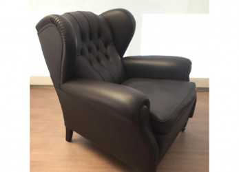 Unico Poltrona Frau 1919 Brown Armchair Outlet, Desout.Com