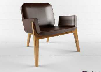 Esperto Chair On A Wooden Frame Jockey » 3D Models Of Chairs » 3D