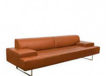 A Buon Mercato Poltrona Frau Quadra Leather Sofa On LiveAuctioneers