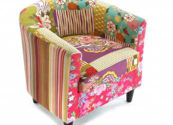Antico Versa, Armchair Patchwork: Amazon.Co.Uk: Kitchen & Home, Extension, Accent Chairs, Armchair,, Chair