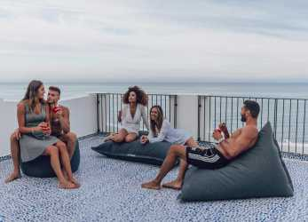 Fantastico Milk Pouf Chaise Longue: Deck Chair Pouf, A Luxury Rest!, Pomodone