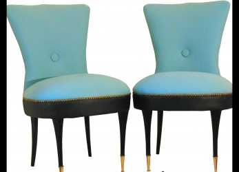 Fresco Coppia Di Poltroncine Da Camera, Pair Of Slipper Chairs, SEDUTE