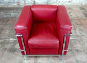 Preferito Le Corbusier, Red Leather Poltrona Armchair By Cassina-A Pair, EBay
