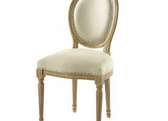 Semplice Linen, Solid, Medallion Chair, Maisons Du Monde