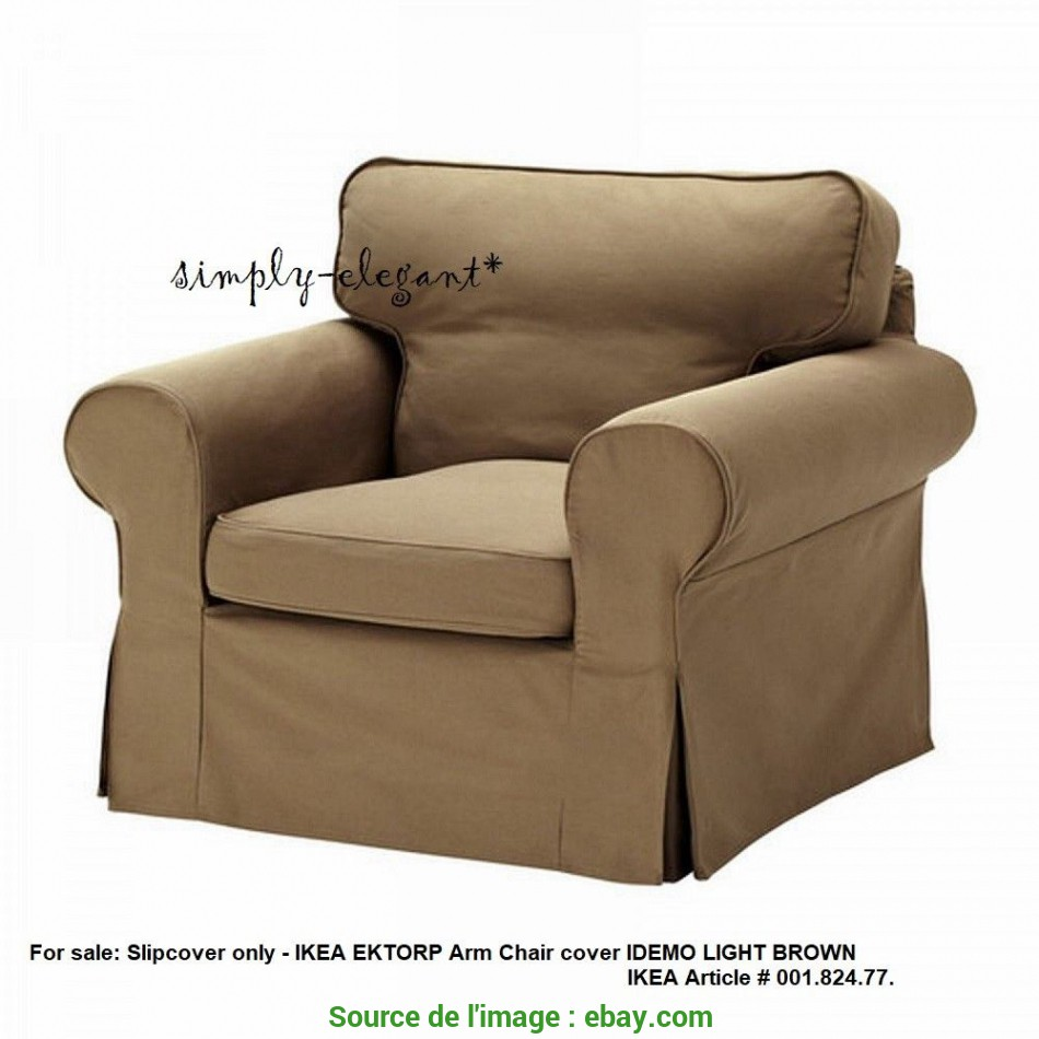 Ideale Details About IKEA COVER, Ektorp Chair Ektorp Armchair Slipcover Idemo Light Brown 00182477