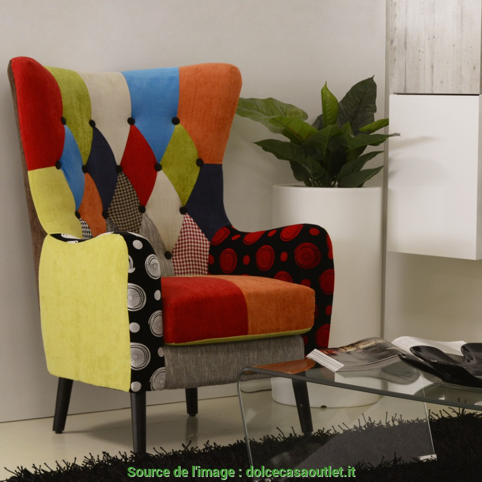 Trending POLTRONA PATCHWORK FLAVIA, Dolce Casa Outlet Palermo
