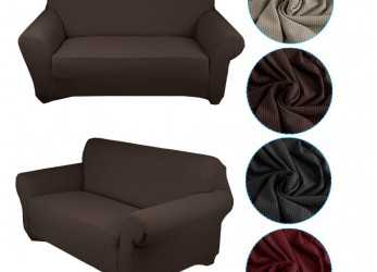 Dettaglio Auralum® Stretch Fabric Sofa Cover/Lining Chaise Longue Furnishing Lounge, 1, Seater Sofa Black Copridivano, Posti(140-170CM) Brown [Energy Class A