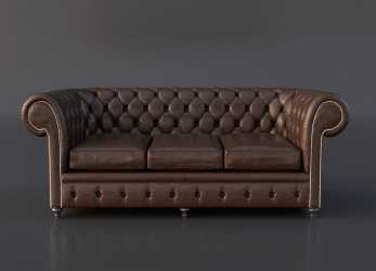Ideale FREE Chesterfield Couch 3D Model On Behance