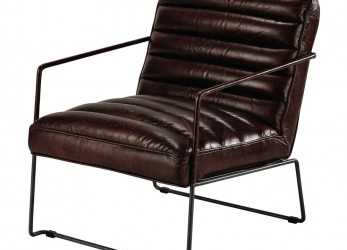 Più Recente Leather Armchair In Brown Pearl