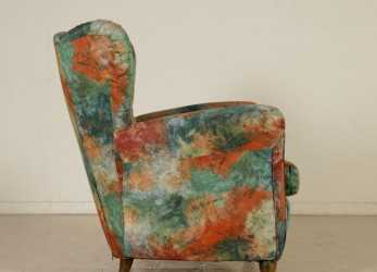 Magnifico Bergere Armchair Springs Foam Padding Vintage Italy 1950S-1960S