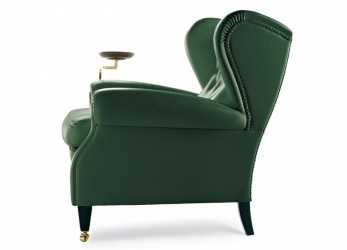 Perfezionare 1919 Wingchair With Plate By Poltrona Frau, Home Decor