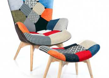 Ideale Fauteuil Featherston Patchwork, Chairs, Armchair, Patchwork